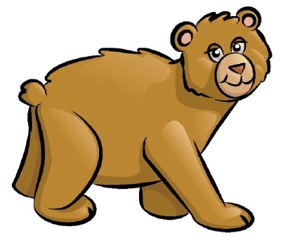 400x349 Grizzly Bear Clipart Realistic Cartoon
