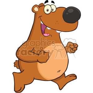 300x300 Royalty Free Royalty Free Rf Clipart Illustration Happy Brown Bear