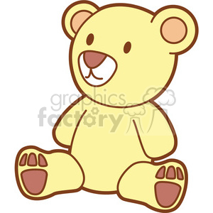300x300 Royalty Free Teddy Bear Cartoon 397933 Vector Clip Art Image