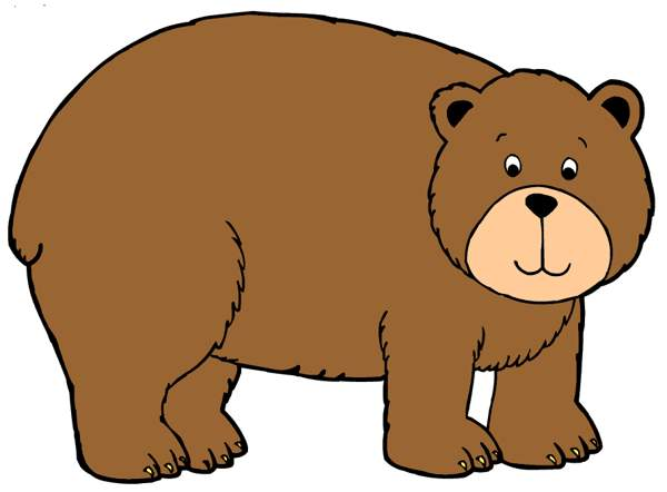 600x442 Brown Bear Clipart Children'S