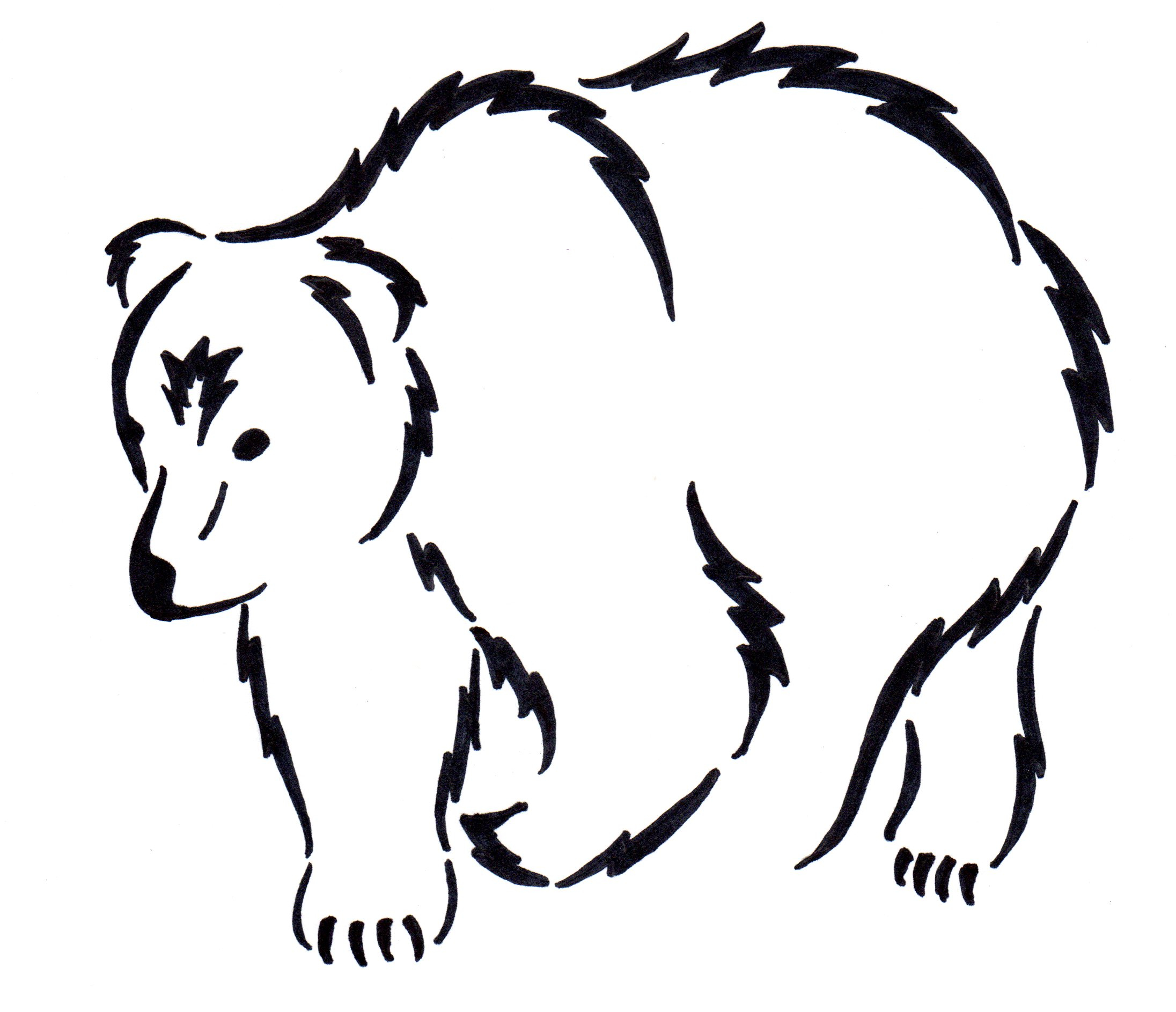 2192x1887 Best Photos Of Grizzly Bear Outline