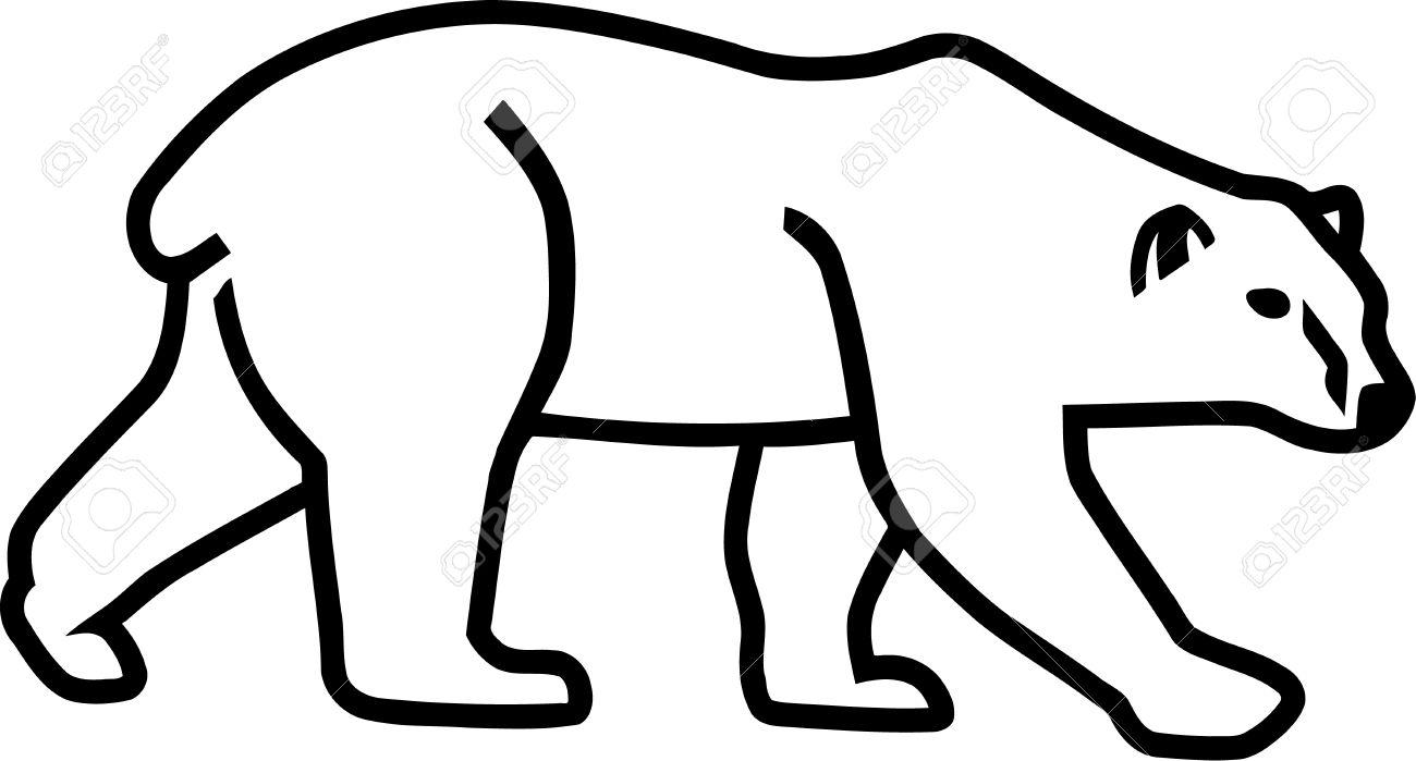 1300x699 Polar Bear Clipart Outline