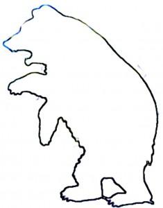 235x300 Bear Outline Clipart Panda