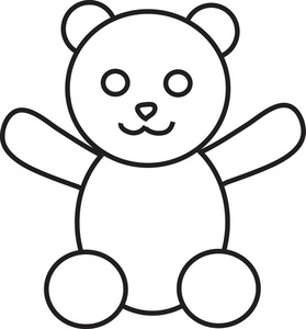 279x300 Teddy Bear Outline Clipart Free Images 6