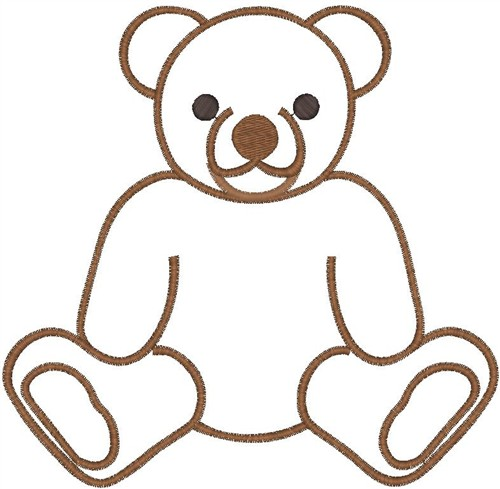 500x489 Teddy Bear Outline Clipart Free Images 8