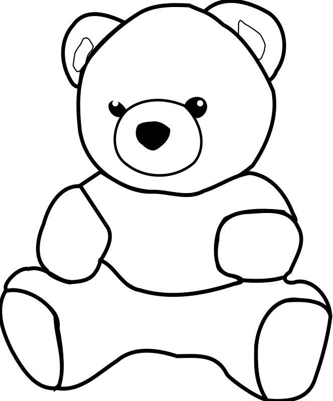 663x800 The Best Teddy Bear Outline Ideas Teddy Bear