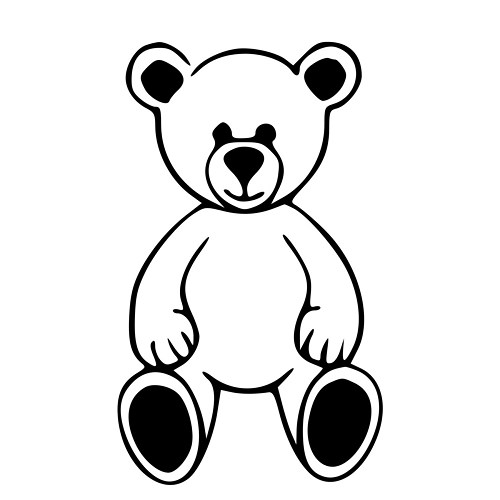 500x500 Cute Teddy Bear Outline Die Cut Decal Car Window Wall Bumper Phone