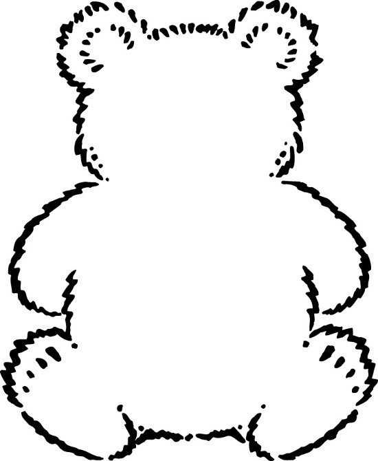 550x670 Teddy Bear Black And White Teddy Bear Outline Clip Art Clipartfest