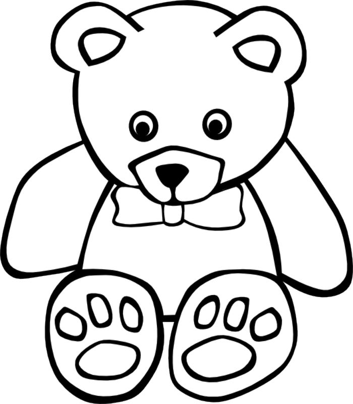 700x801 Teddy Bear Outline Clipart Collection