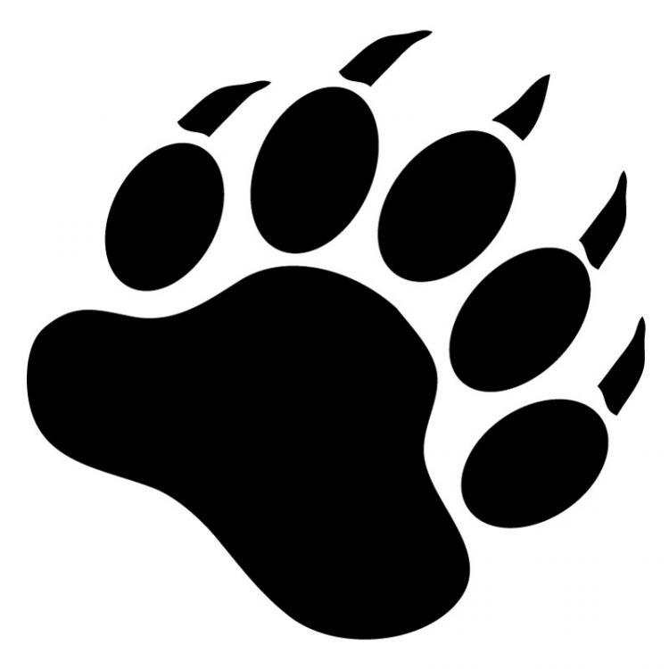 750x750 Bear Paw Stencil Free Download Clip Art