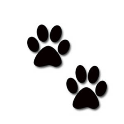 400x400 Paw Print Clip Art Black And White