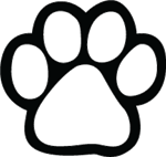 150x142 Paw Print Outline Clipart