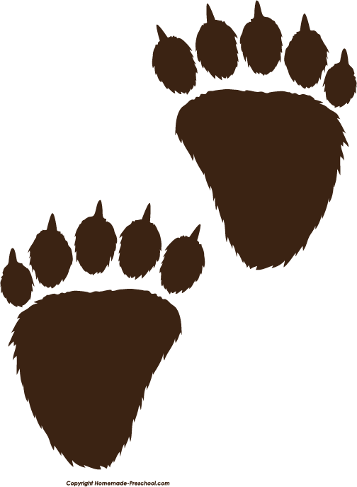 504x688 Black Bear Clipart Bear Paw Print