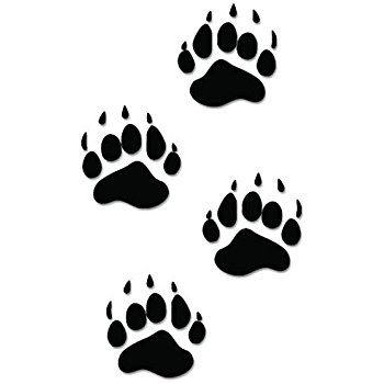 350x350 Black Bear Paws Print Tracks Hunting Vinyl Decal