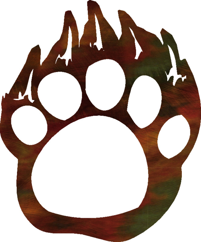 662x800 Grizzly Bear Paw Print Clipart
