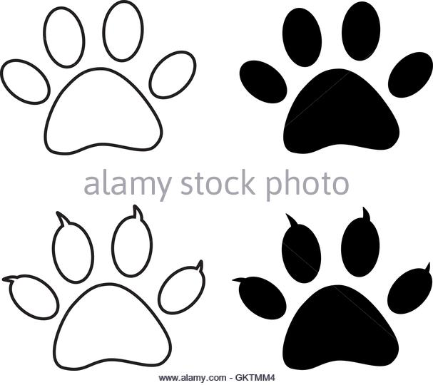 607x540 Bear Paw Print Stock Photos Amp Bear Paw Print Stock Images