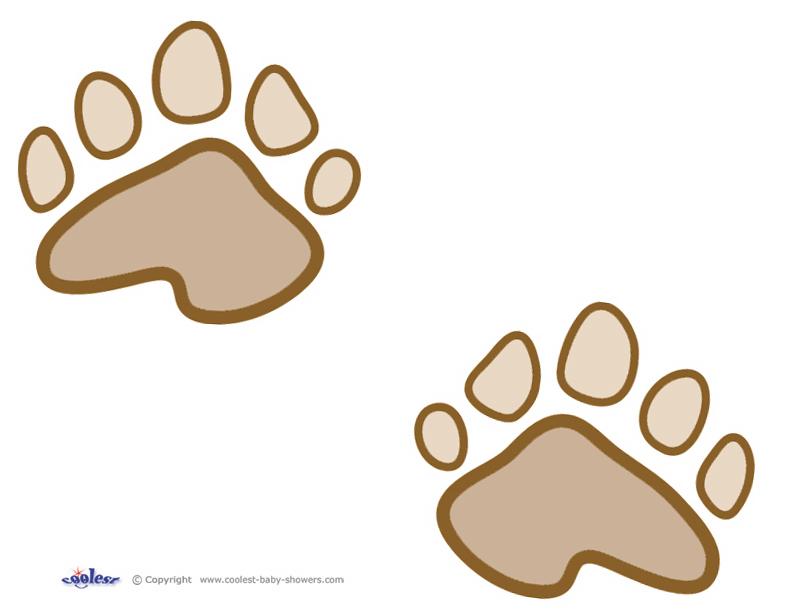 792x612 Printable Teddy Bear Paw Prints
