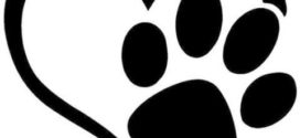 272x125 Black And White Bear Paw Print Clip Art