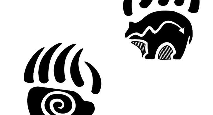 728x393 Bear Paw Print Tattoos