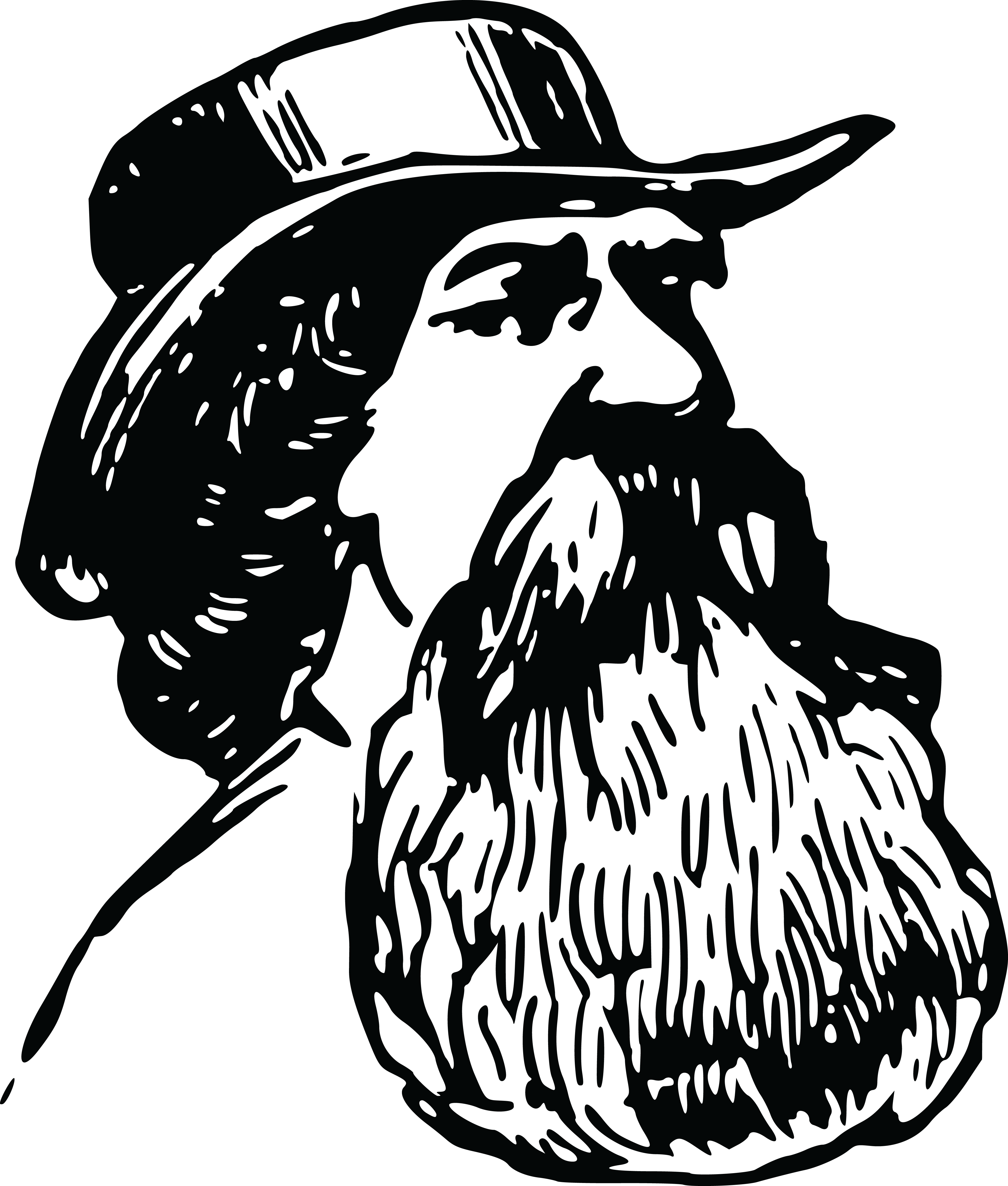 2ee5701600d 4000x4707 Free Clipart Of A Man With A Beard