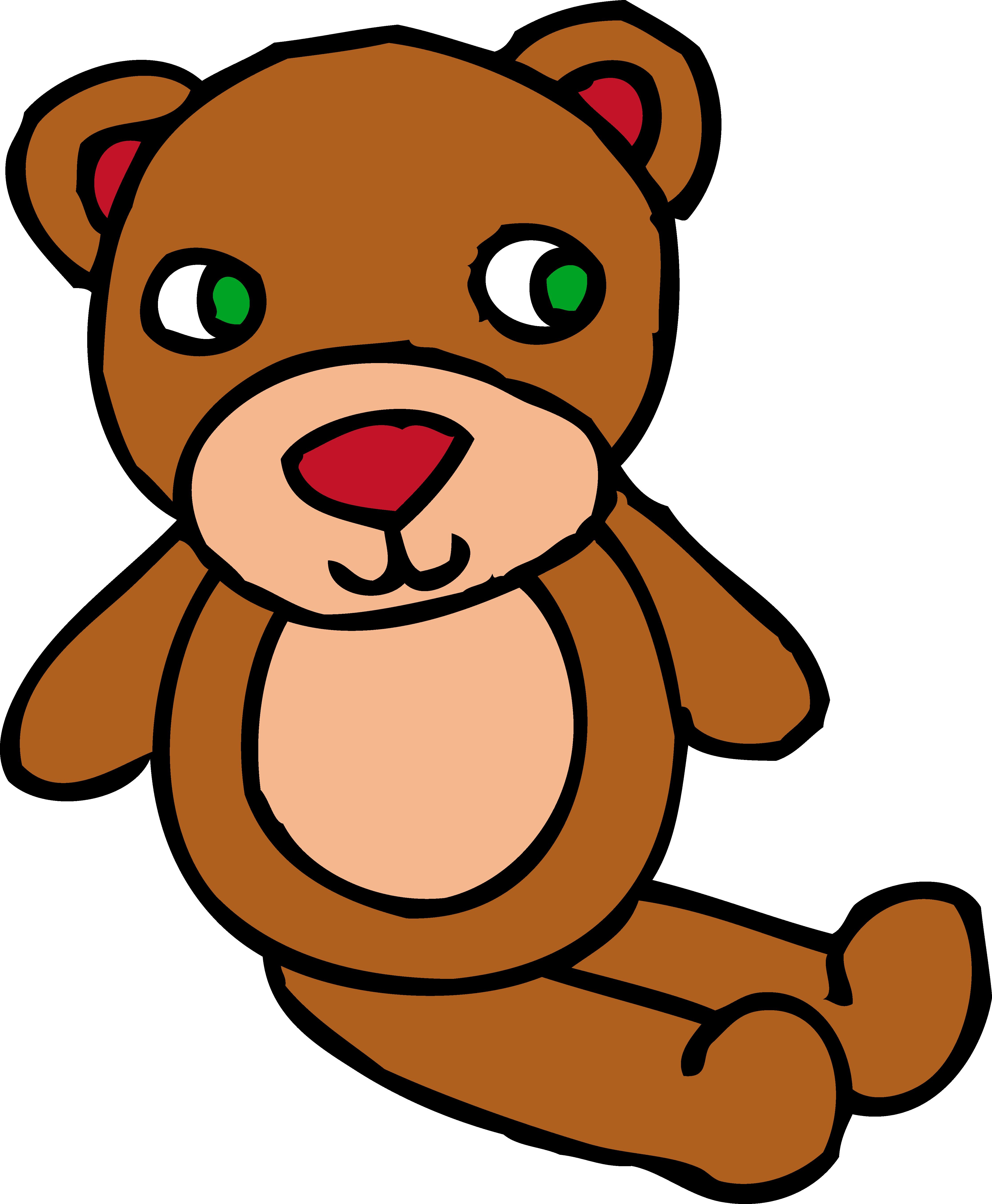 4459x5412 Boy Teddy Bear Clip Art