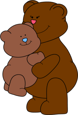 274x400 Clipart Of Bears Hugging