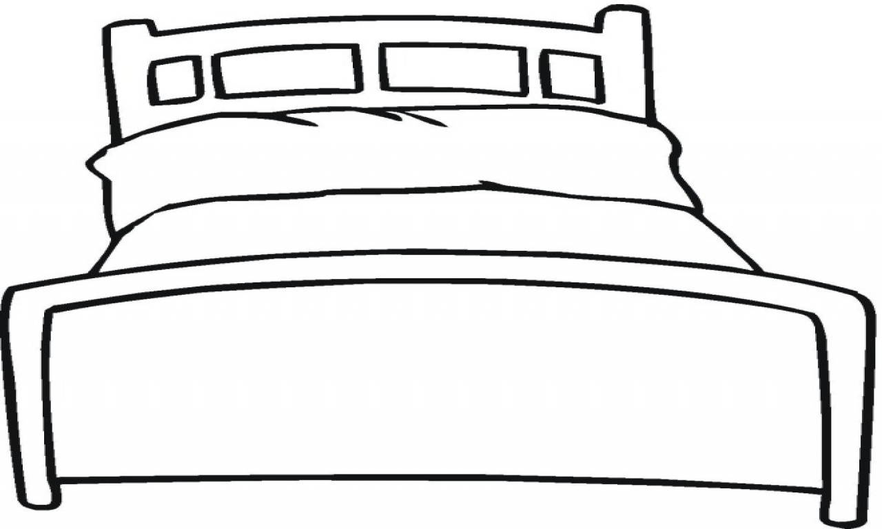 big bed pics coloring pages - photo#7