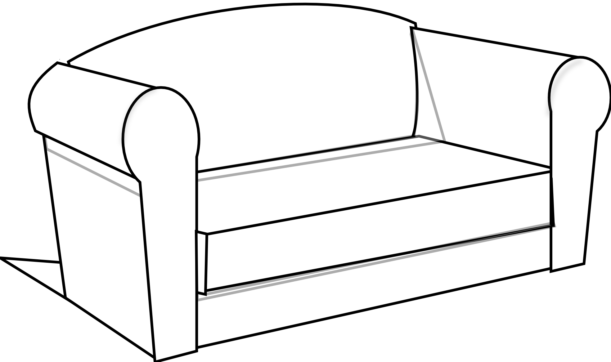 1969x1167 Bed Black And White Couch Clipart Black And White Free Images