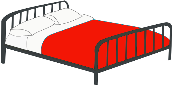 600x297 Bed Clip Art Black And White Free Clipart Images