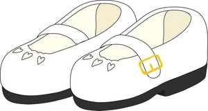 300x161 Clipart Black And White Shoe Under Bed