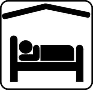 298x288 Sleeping In Bed Clipart Black And White