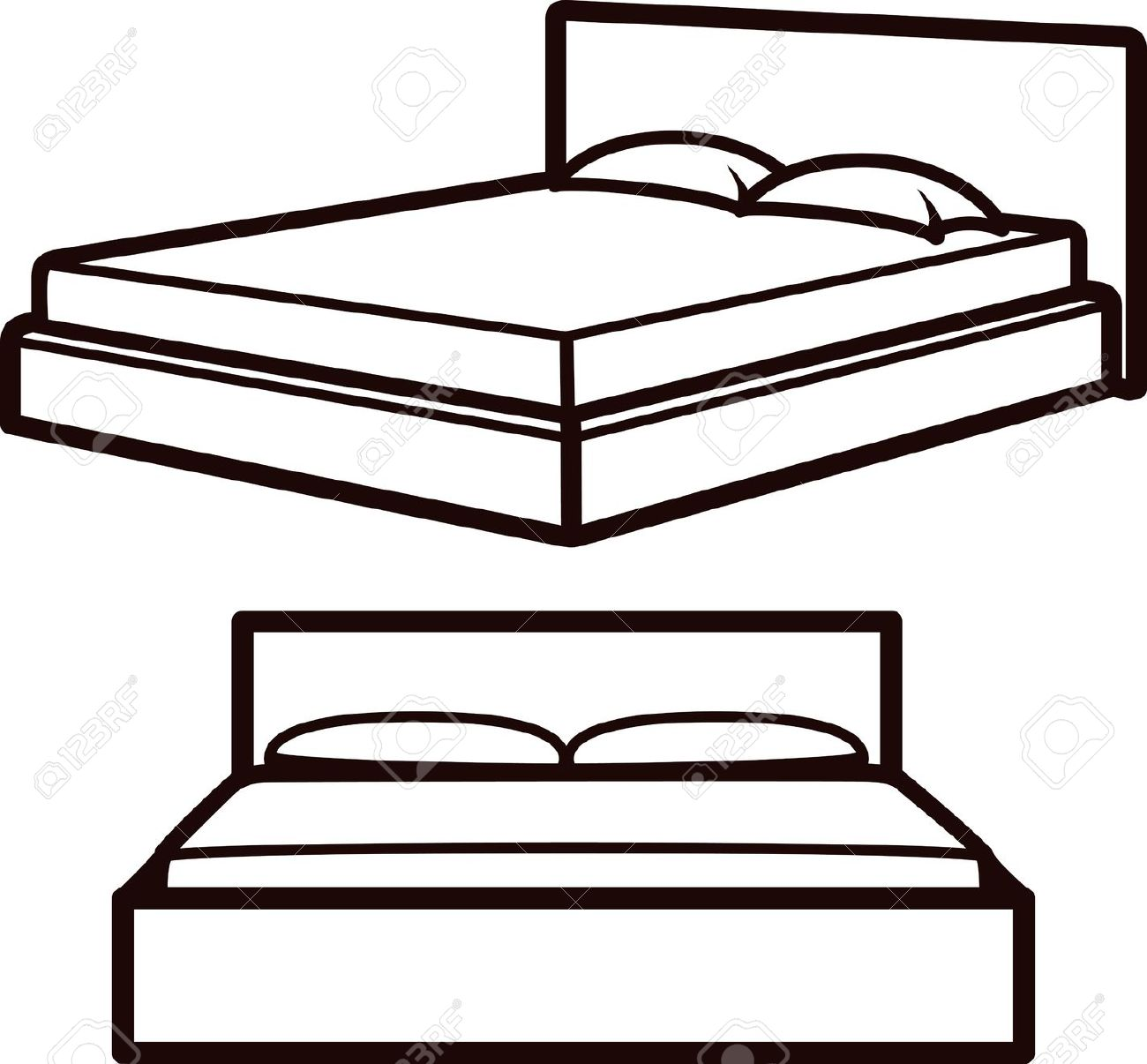 1300x1206 Bed Clipart Simple