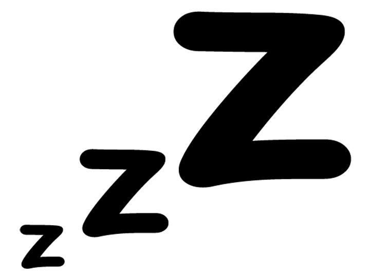 720x540 Sleep Black And White Clipart