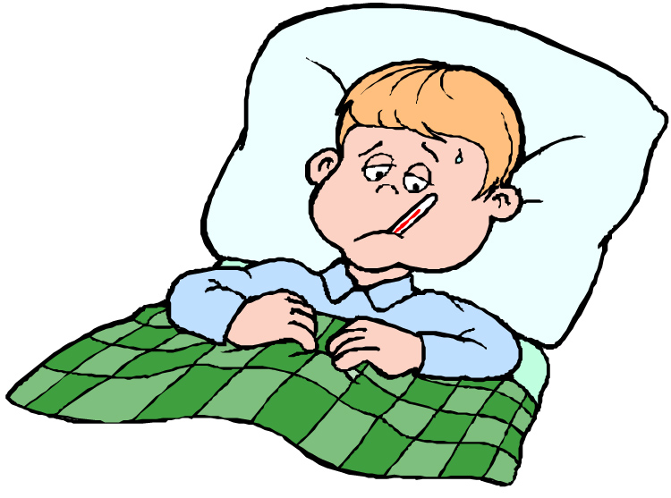 750x557 Sick In Bed Clipart