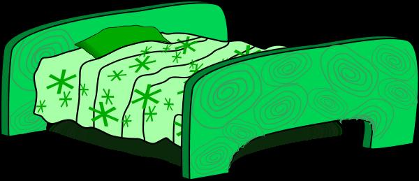 600x259 Cartoon Bed Vector Clip Art
