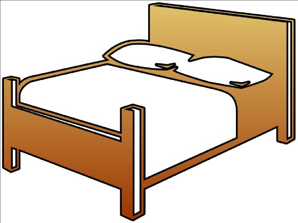 600x448 Bed Cutout Clip Art
