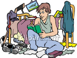 300x228 Bedroom Clipart Messy Person