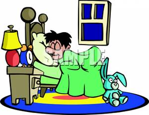 300x232 Boy Sleeping In His Bedroom