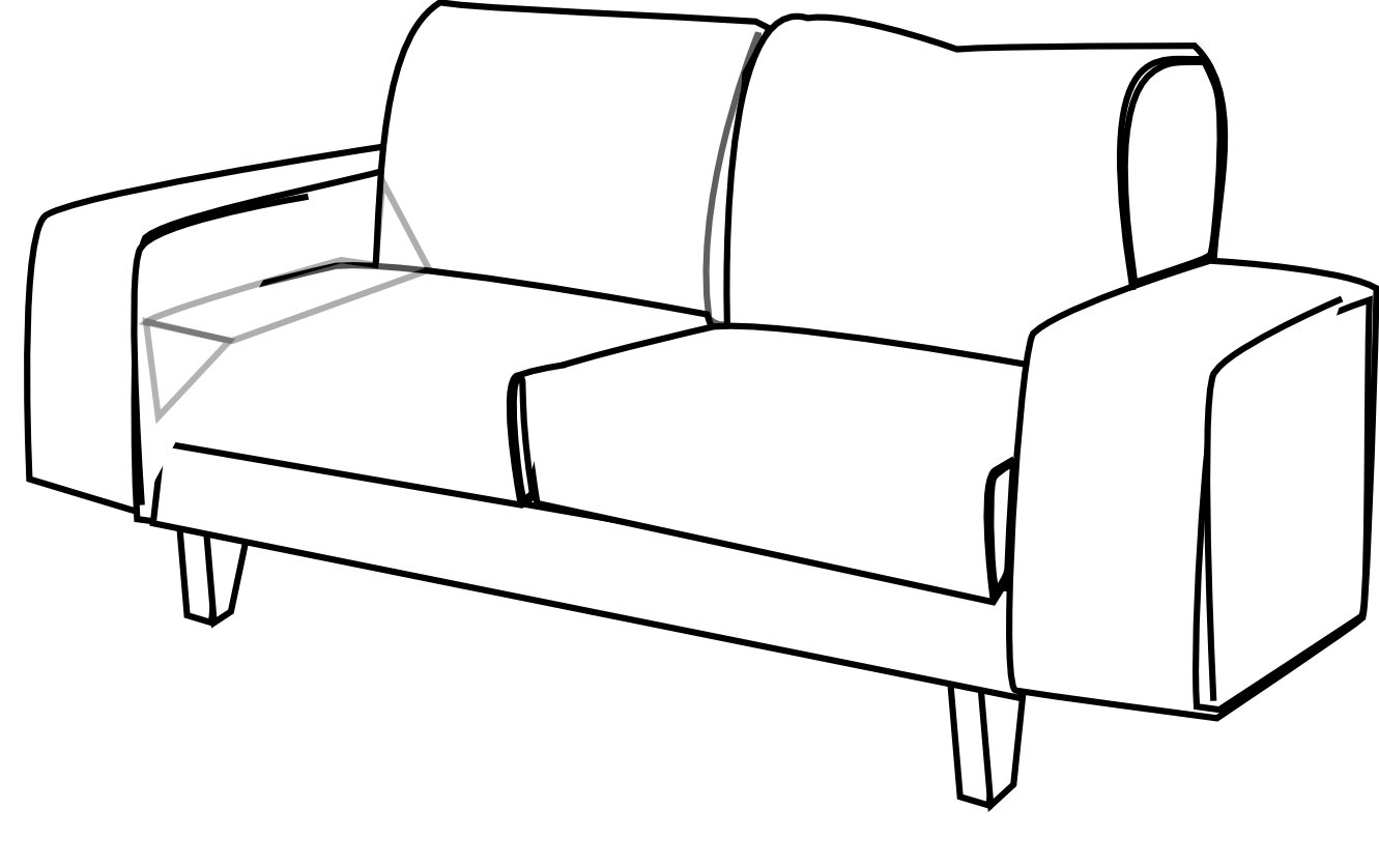 1331x838 Bedroom Furniture Clipart Black And White