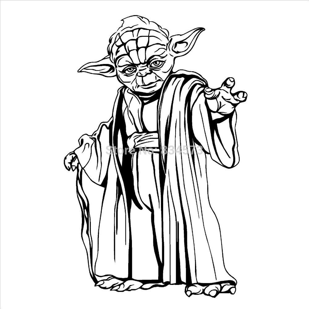 1000x1000 Yoda Outline Clipart