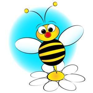 300x300 Bee Hive Clip Art Flower Bee Clipart Gallery Flowerbee Bus