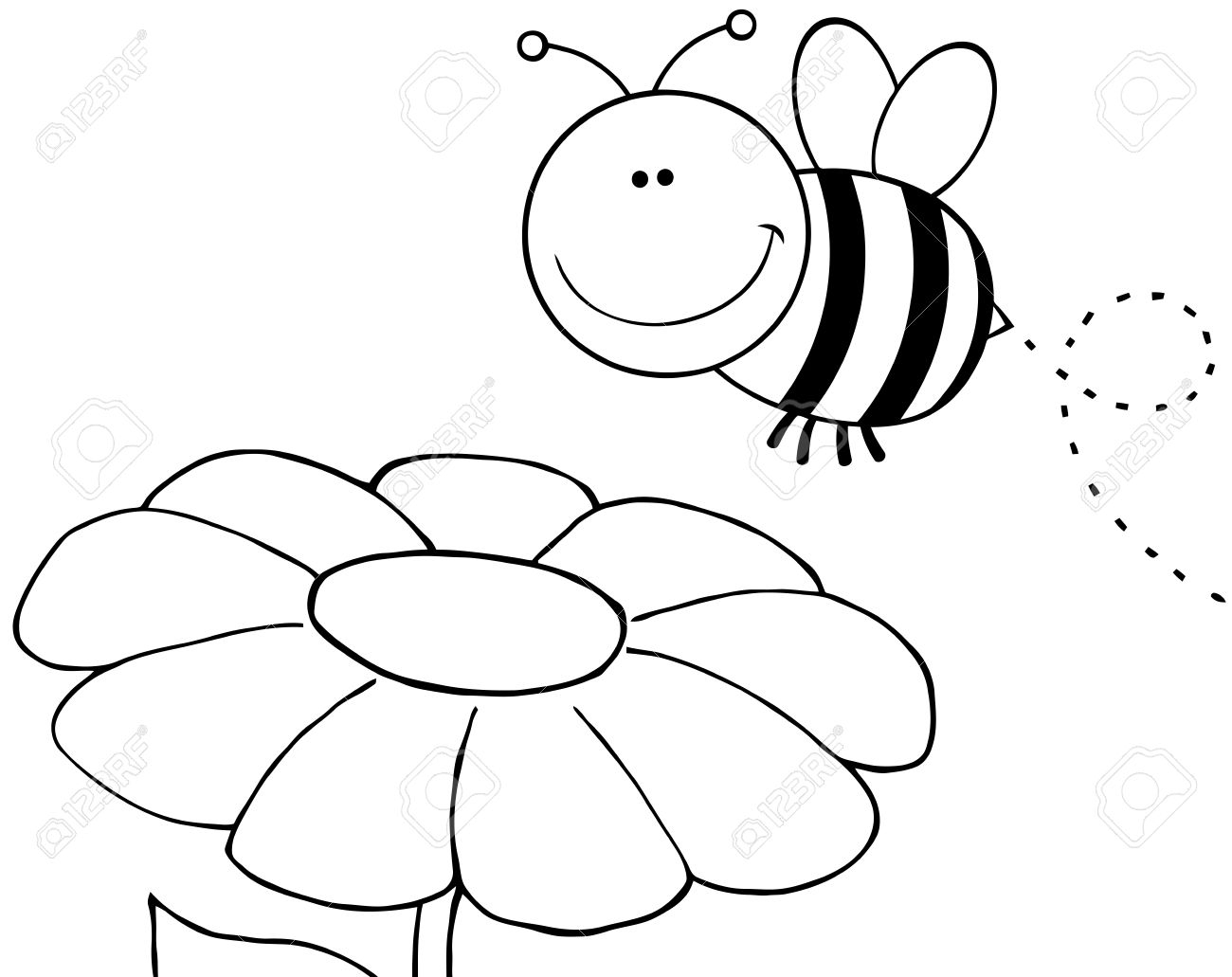 1300x1031 Bumble Bee and Flower Clip Art – Cliparts