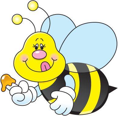 390x385 Summer Clipart Bee