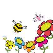 170x170 Bee Flower Clip Art