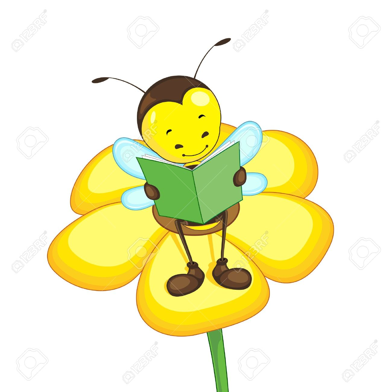 1300x1300 Bee Reading Clipart amp Bee Reading Clip Art Images