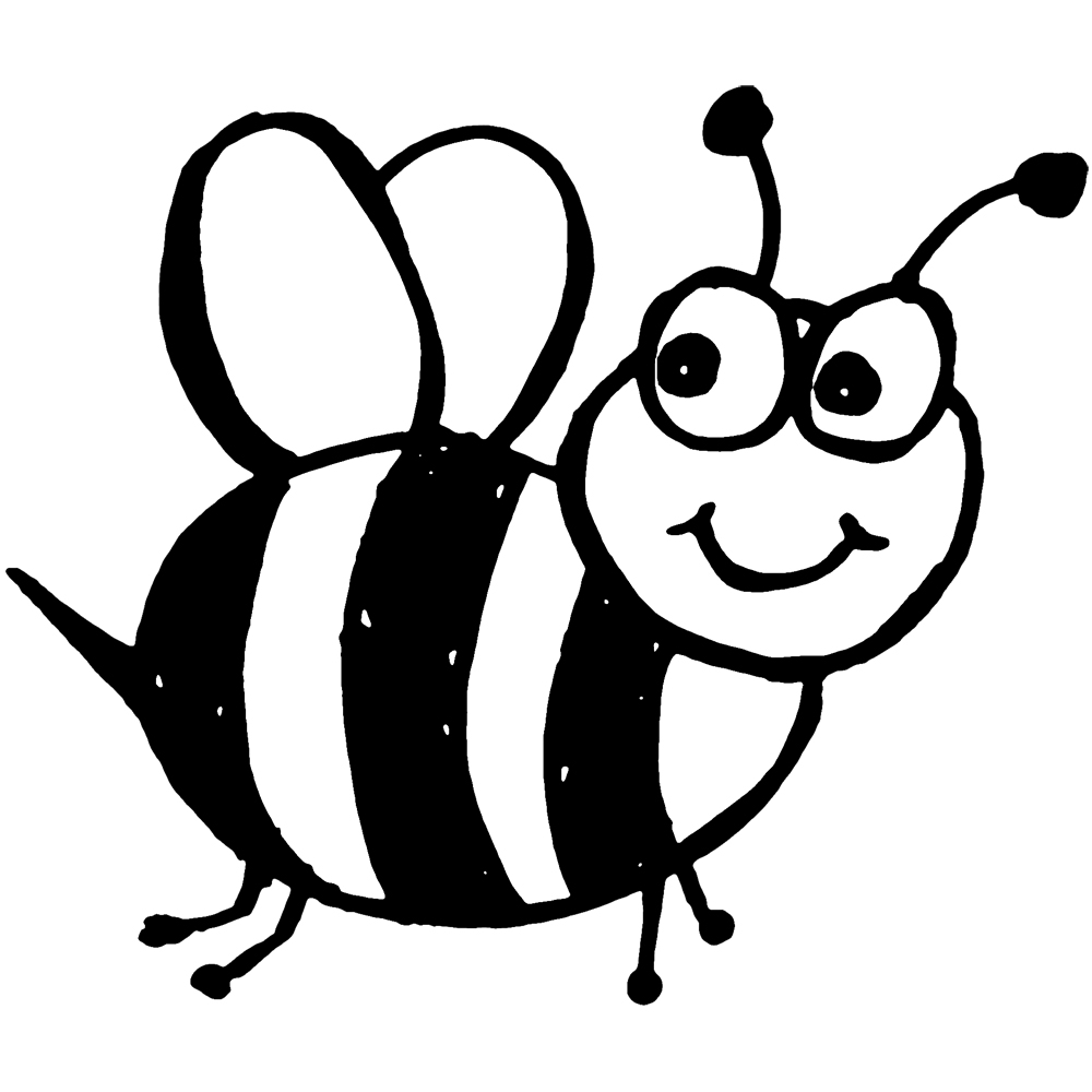 1000x1000 Bumblebee Clipart Outline