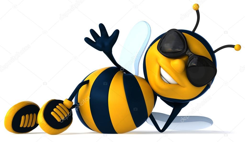 1024x595 Cartoon bee — Stock Photo © julos