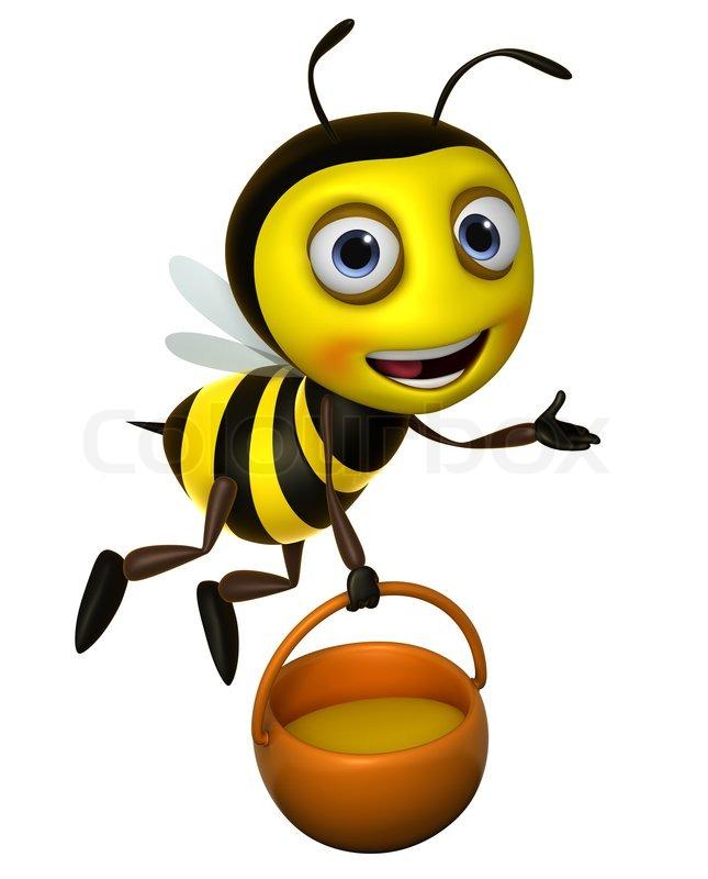 645x800 Cartoon honey bee Stock Photo Colourbox