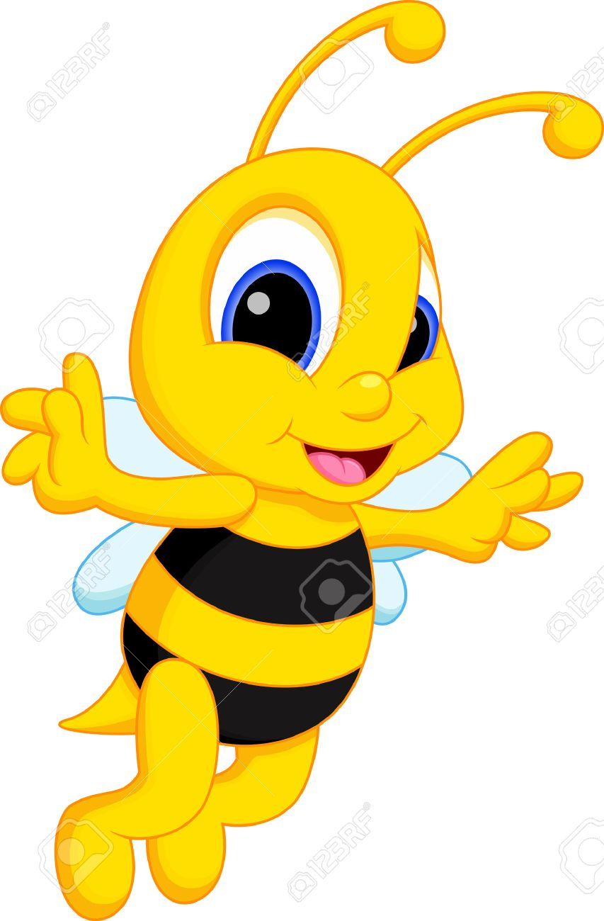 853x1300 Cute Bee Cartoon Royalty Free Cliparts, Vectors, And Stock