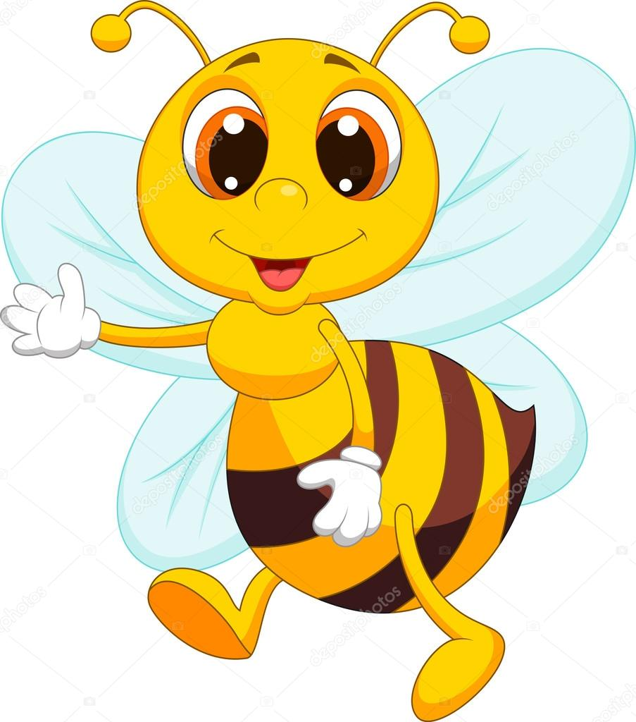 903x1024 Cute bee cartoon — Stock Vector © tigatelu